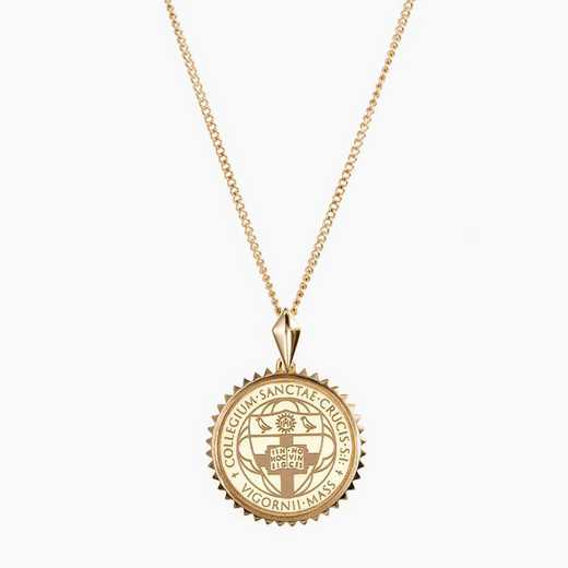 HYC0116: Cavan Gold Holy Cross Sunburst Necklace by KYLE CAVAN